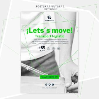 Modelo de cartaz para mover o design de serviço