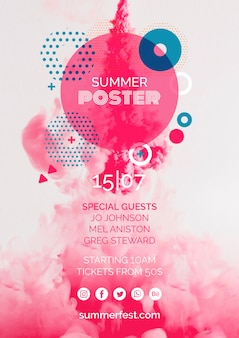 Modelo de cartaz para o festival de verão