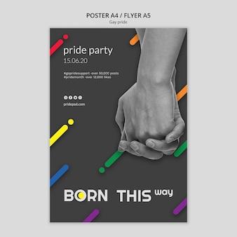 Modelo de cartaz para o orgulho gay