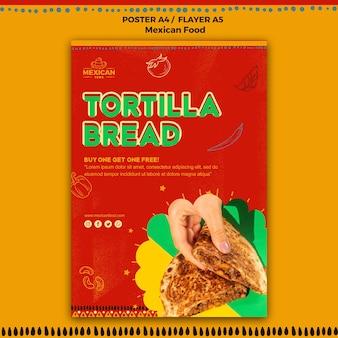 Modelo de cartaz para restaurante de comida mexicana Psd grátis