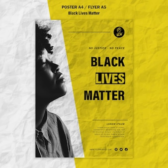 Modelo de cartaz para vidas negras importa