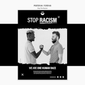 Modelo de cartaz - parar o racismo