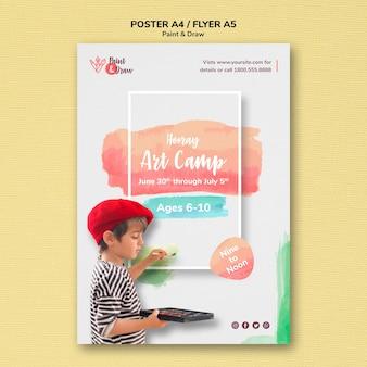 Modelo de cartaz - pintar e desenhar