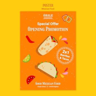 Modelo de cartaz restaurante de comida mexicana