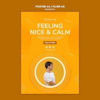 Modelo de cartaz - sentindo-se agradável e calmo