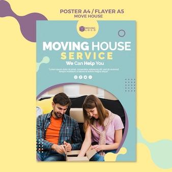 Modelo de cartaz - serviço de mudança de casa