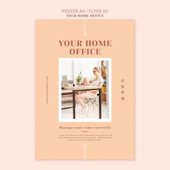 Modelo de cartaz - seu escritório em casa