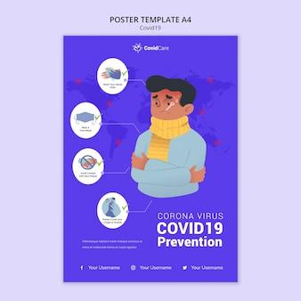 Modelo de cartaz sobre covid19