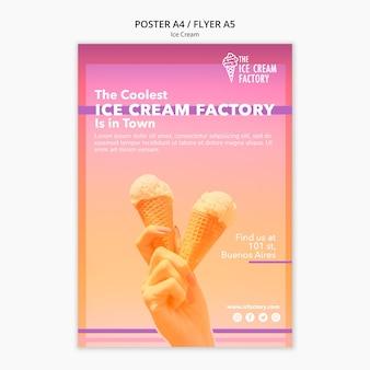 Modelo de cartaz - sorvete