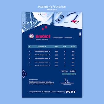 Modelo de cartaz - tema mecânico