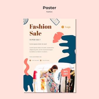 Modelo de cartaz - venda de moda