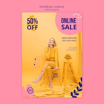 Modelo de cartaz - venda online