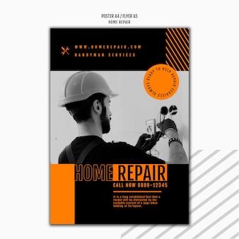 Modelo de cartaz vertical para empresa de consertos de casas