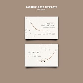 Modelo de cartões de visita para eventos de casamento