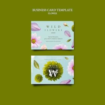 Modelo de cartões de visita para floricultura