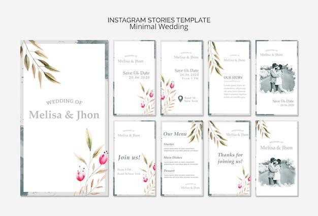 Modelo de casamento de histórias do instagram