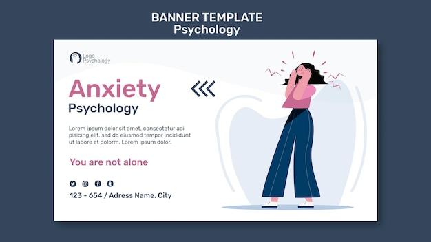 Modelo de centro de terapia de banner