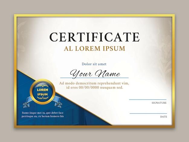 Modelo de certificado de realização