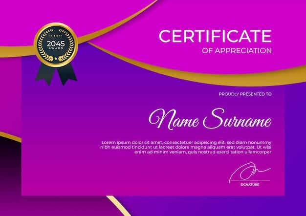 Modelo de certificado simples e moderno para webinar de educação corporativa on-line