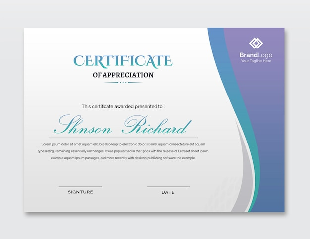 Modelo de certificado simples