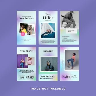 Modelo de coleção de histórias do instagram para venda de moda