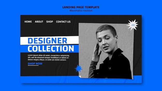Modelo de coleção de moda para página de destino