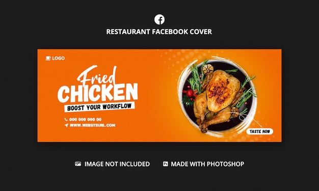 Modelo de comida para modelo de capa do facebook