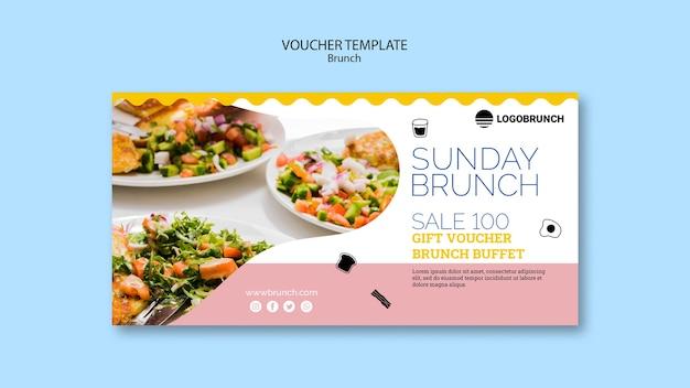 Modelo de comprovante de comida de brunch de domingo