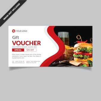 Modelo de comprovante de presente | cartão de fidelidade | voucher de oferta de restaurante