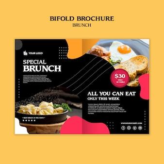 Modelo de conceito de brochura bifold de brunch