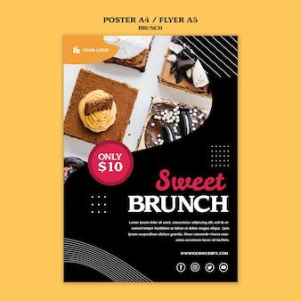 Modelo de conceito de cartaz de brunch