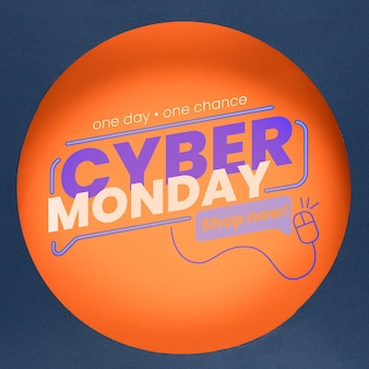 Modelo de conceito de cyber segunda-feira