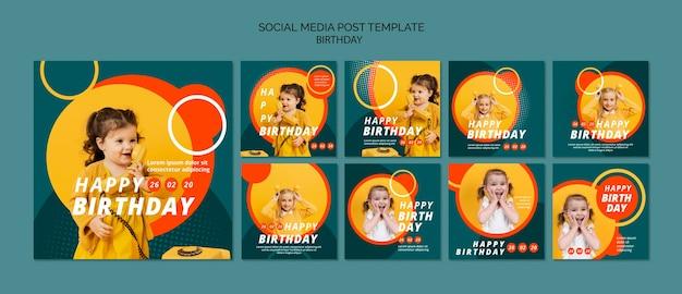Modelo de conceito de feliz aniversário