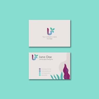 Modelo de conceito de negócio colorido