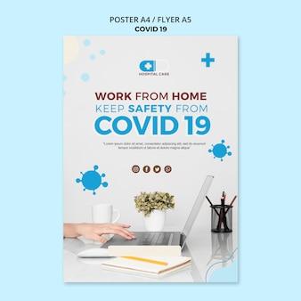 Modelo de conceito de panfleto covid19