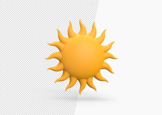 Modelo de conceito de renderização 3d de sol de verão