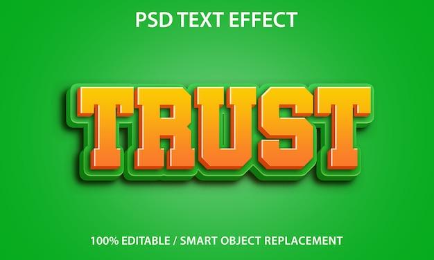 Modelo de confiança de efeito de texto