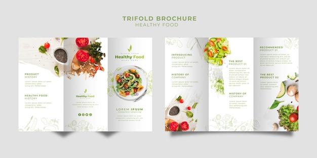 Modelo de conjunto de brochura de três dobras restaurante