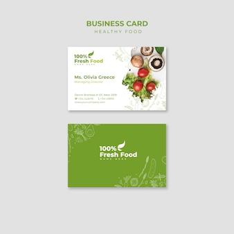 Modelo de conjunto de cartão de visita de restaurante