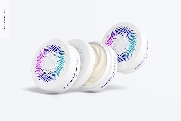 Modelo de conjunto de pote cosmético 100 gr