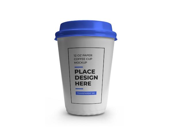 Modelo de copo de café de papel isolado