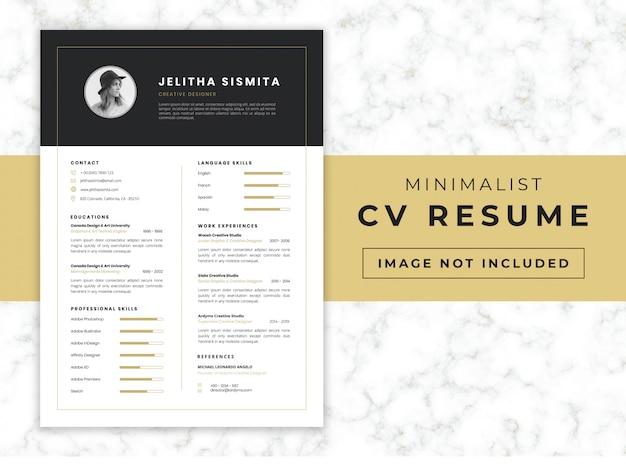 Modelo de currículo cv minimalista
