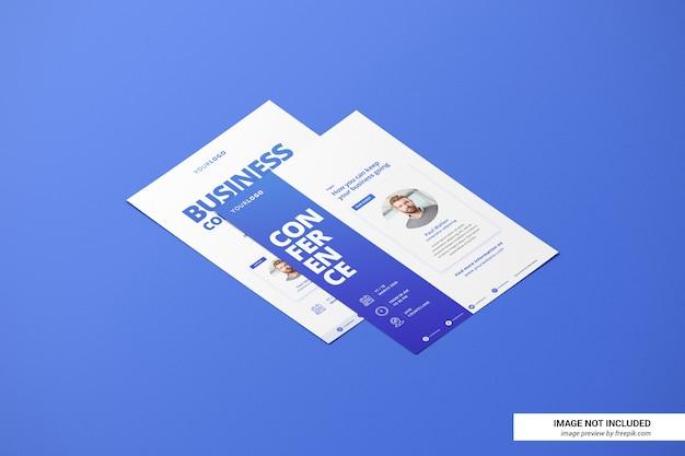 Modelo de currículo ou folheto criativo