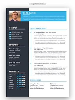 Modelo de currículo profissional cv