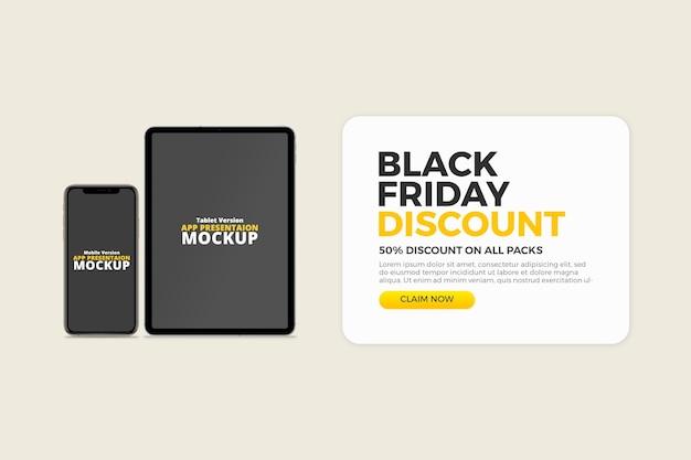 Modelo de desconto para smartphone e tablet da black friday