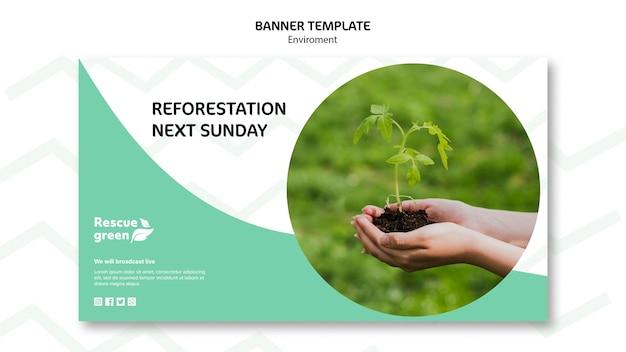 Modelo de design com ambiente para banner