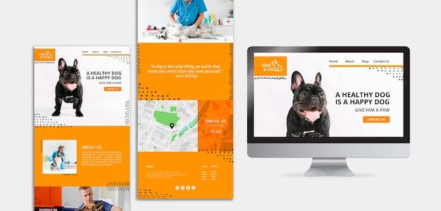 Modelo de design com tema veterinário