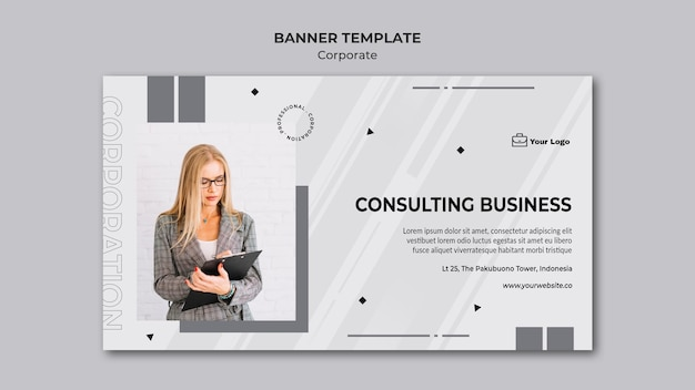 Modelo de design corporativo de banner