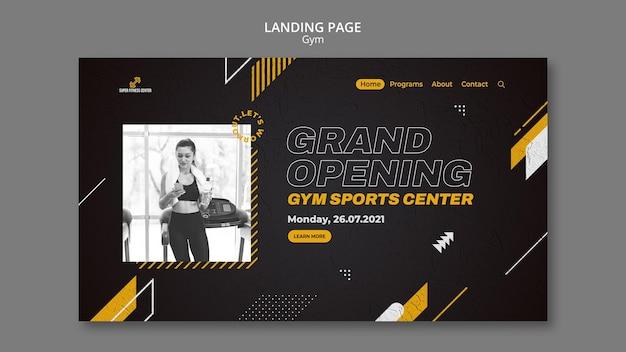 Modelo de design da página de destino do ginásio