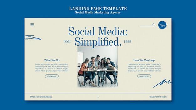 Modelo de design de agência de marketing de mídia social